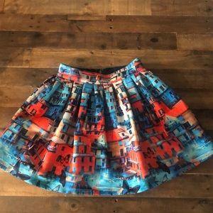 Alice & Olivia Print Skirt